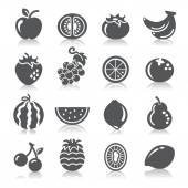 A collection of different kinds of fruit icons
