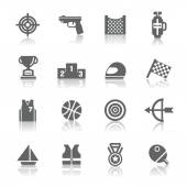 A collection of different kinds of sport competition icons