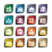 A collection of different kinds of hotel icons