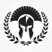 Warrior gladiator knight icon with laurel wreath -  vector