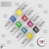 Infographics on a gray background. Stickers and items for business