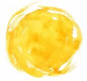 žlutá akvarel zázemí
