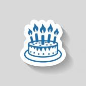 Pictograph of cake vector icon