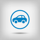 Pictograph of car icon illustration