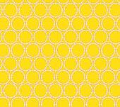Vector seamless yellow pattern with modern fashion ornament Vector background