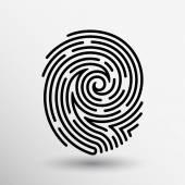 Otisk ikonu prst tiskových vektorových id krádež makro razítka
