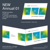 New Annual 01 Brochure Innovation design layout 2017 vector
