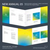 New Annual 05 Brochure Innovation design layout 2017 vector