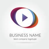 Abstraktní barevné vektorové hrát logotyp samostatný