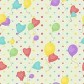 Seamless background of balloons and stars