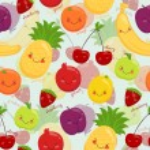 Постер, плакат: Seamless background stock vector image cartoon fruit vegetarian