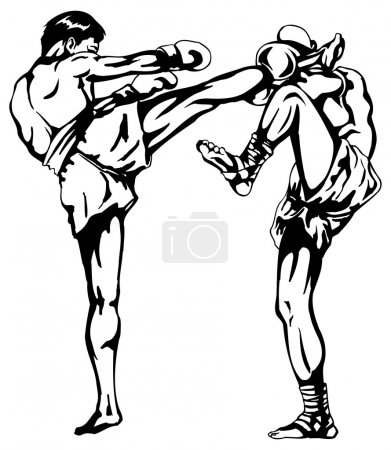 Thai boxing drawings