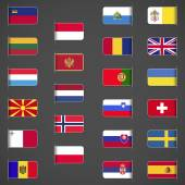 World flags collection Europe part 2 Labeled in layers panel Flags on the right hand side reflected around vertical axis