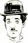Charlie Chaplin in vector