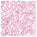 Постер, плакат: Watercolor square pattern of hearts