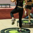 Постер, плакат: Women doing Fitness on Mini Trampoline