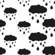 Постер, плакат: Rainy cloud seamless pattern