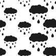 Постер, плакат: Rainy cloud seamless pattern