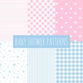 Baby sprcha: sada vektorové pozadí