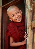 Egy azonosítatlan burmai buddhista kezdő