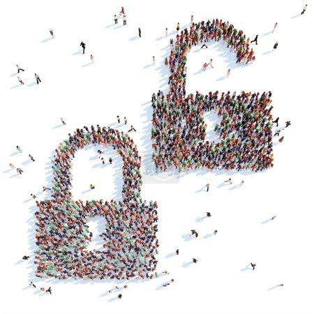 Постер, плакат: Symbol of locks , холст на подрамнике