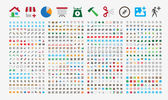 An amazing set of 800 vector icons in round corners and flat color design They are sized at 24x24px