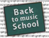 Back to music school The first of September Musical abstraction Chaotic collection of musical symbols decorated according to the rules of musical notation Physical diapason is not determined