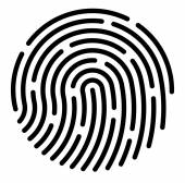 Fingerprint App icon background Vector Illustration