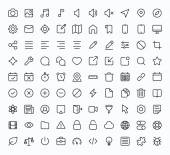 Outline vector icons for web and mobile Thin 2 pixel stroke & 60x60 resolution