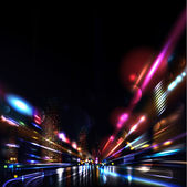 Vector background Blurred Defocused Lights of Heavy Traffic on a Wet Rainy Street Vector illustration