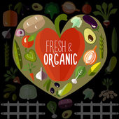Fresh and organic vegetables