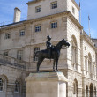Постер, плакат: Equestrian statue of Field Marshal Lord Wolseley Horse Guards Parade London UK