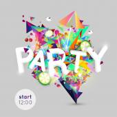 Lounge bar party poster. Cocktails party background. Summer poster. All Night Party design template with place for text.