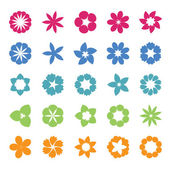 Set of flat icon flowerVector