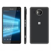 Novosibirsk Russia - December 5 2015: Windows Phone Lumia 950 950XL issued in October 2015 Operating system Windows 10 AMOLED display 57