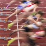 Постер, плакат: Sprint start in track