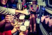 Hen-Party mit Champagner
