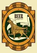 Beer label design with griffin Beer design Label contains images of griffin beer label pattern on vintage background