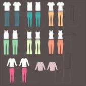 Sada ženských šatů