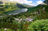Beautiful scenery of Tatra mountains in the area of Eye of the Sea