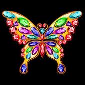 Farfalla gioielli in oro e pietre preziose