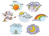 Kreslený počasí sada
