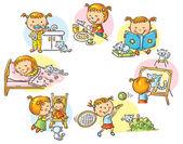 Little girl's daily activities no gradients
