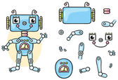 Robot body parts for kids to put together no gradients