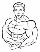Body builder illustration