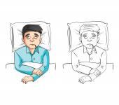 Nemocný karikatura člověka