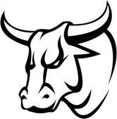 Bull head illustration design