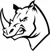 Nosorožce hlavu ilustrace design