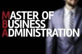 MBA, napsané na tabuli s podnikatel
