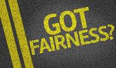 Haben Sie Fairness? geschrieben auf der Straße